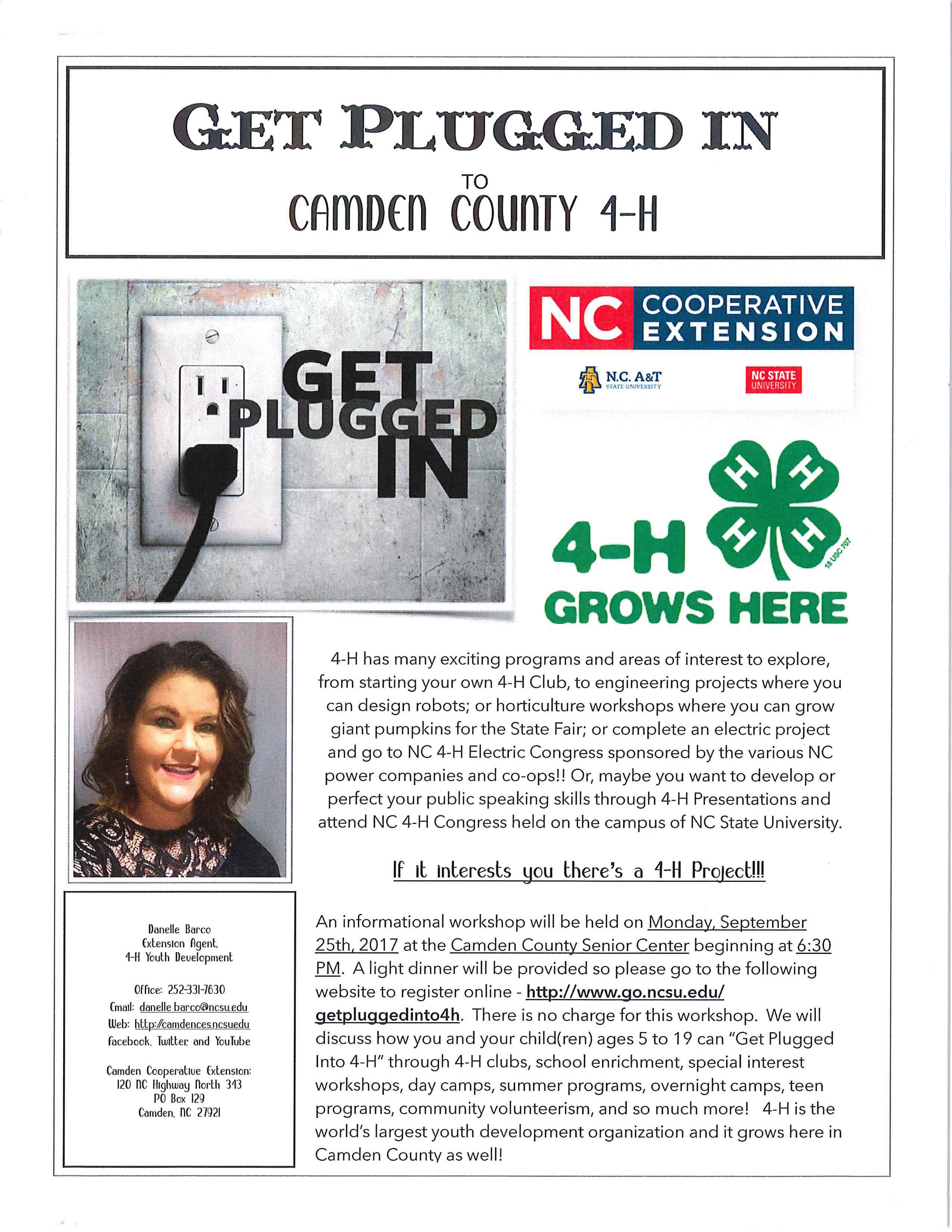 Get Plugged in to Camden County 4-H