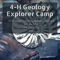 4-H Geology Explorer Camp flyer image