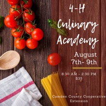 4-H Culinary Academy poster