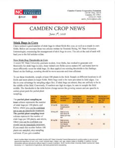 Cover photo for New Edition of Camden Crop News - June 2018