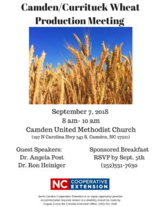 Cover photo for Camden/Currituck Wheat Production Meeting