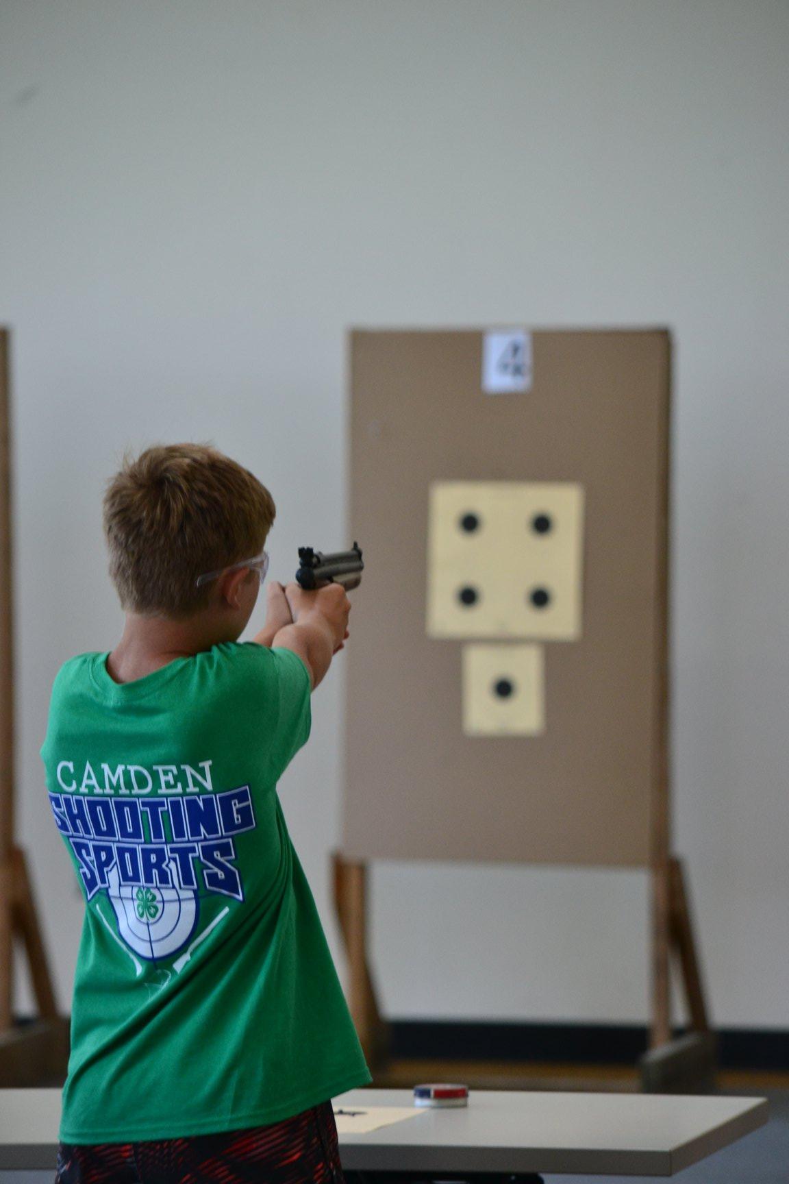 boy doing target practice