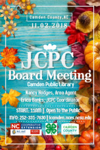 Cover photo for November JCPC Board Meeting