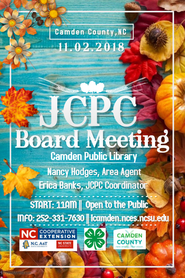 JCPC Board Meeting flyer image
