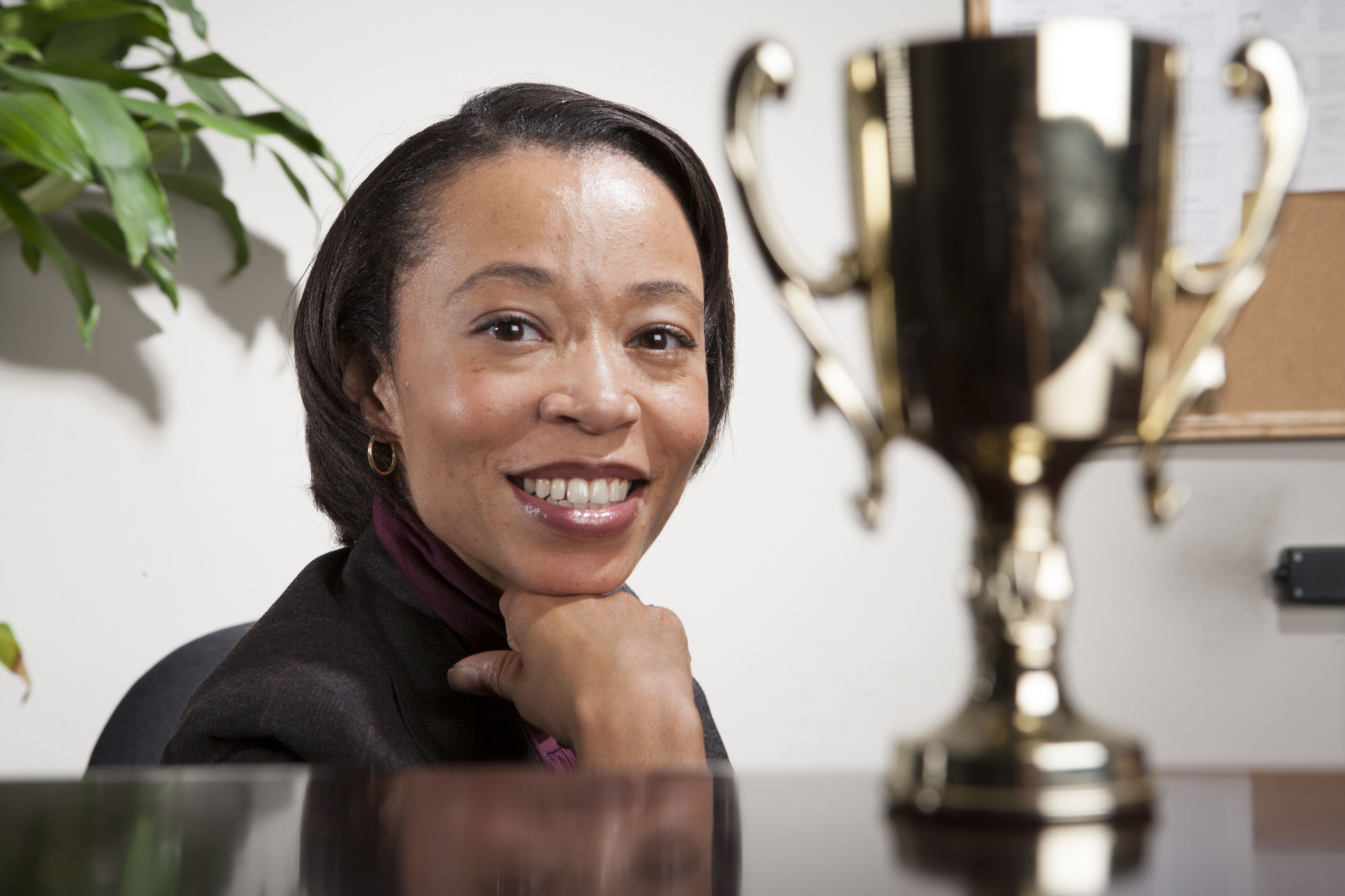 Image of woman with award