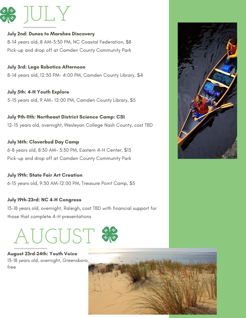July program flyer