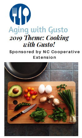 "Cover photo for Aging With Gusto 2019: ""Cooking With Gusto"""