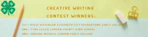 Cover photo for Creative Writing Essay Contest Winners Announced!
