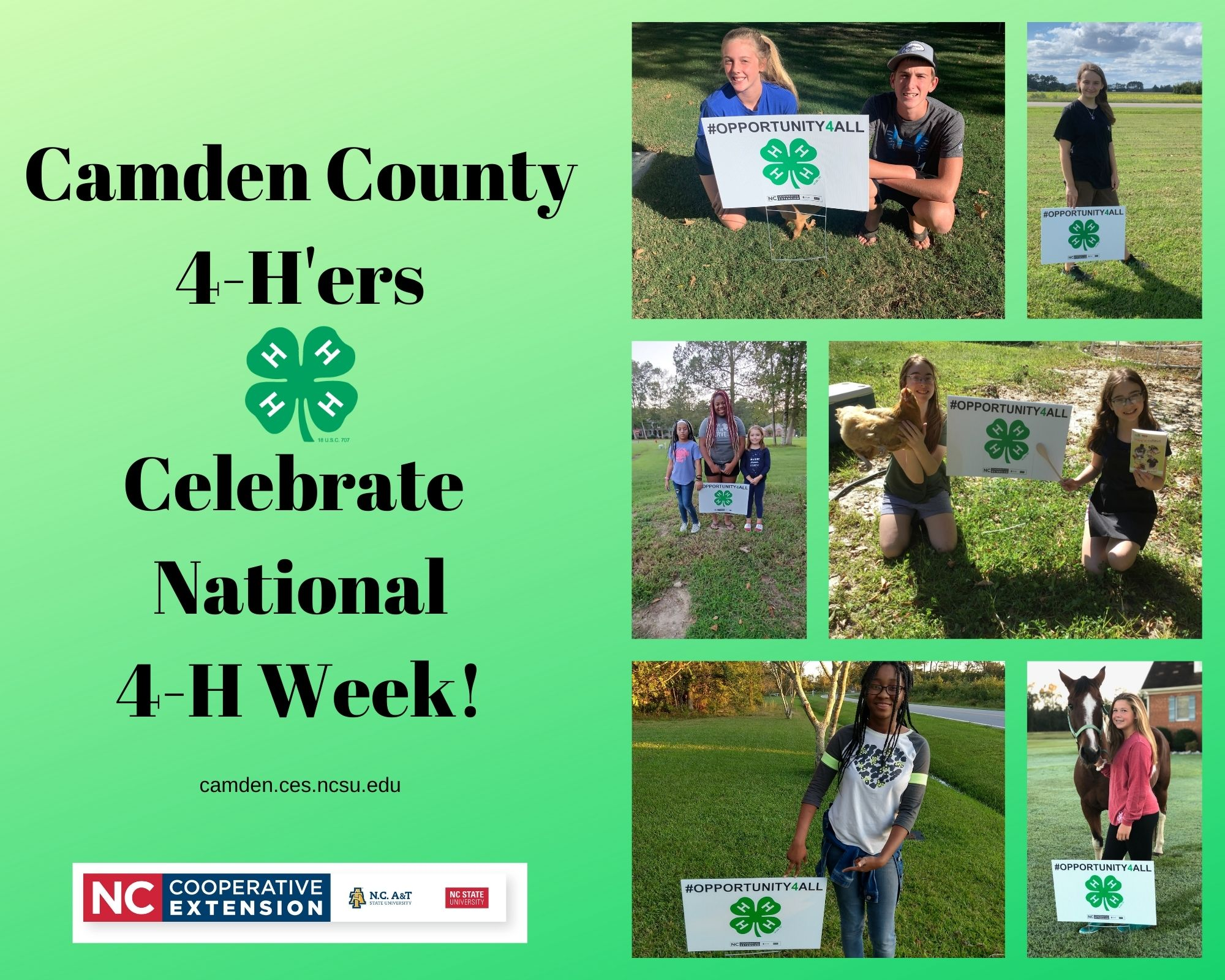 Pictures of 4-H'ers