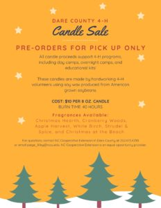 Cover photo for Dare County 4-H Candle Sale!