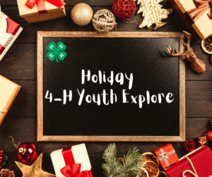 Cover photo for Holiday 4-H Youth Explore