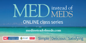 "Cover photo for Learn to Eat the ""Med Way"" With Our Virtual Med Instead of Meds Class"