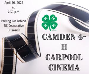 Cover photo for Camden 4-H Carpool Cinema