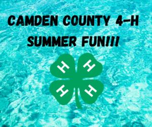 Cover photo for Camden 4-H Summer Fun!!!