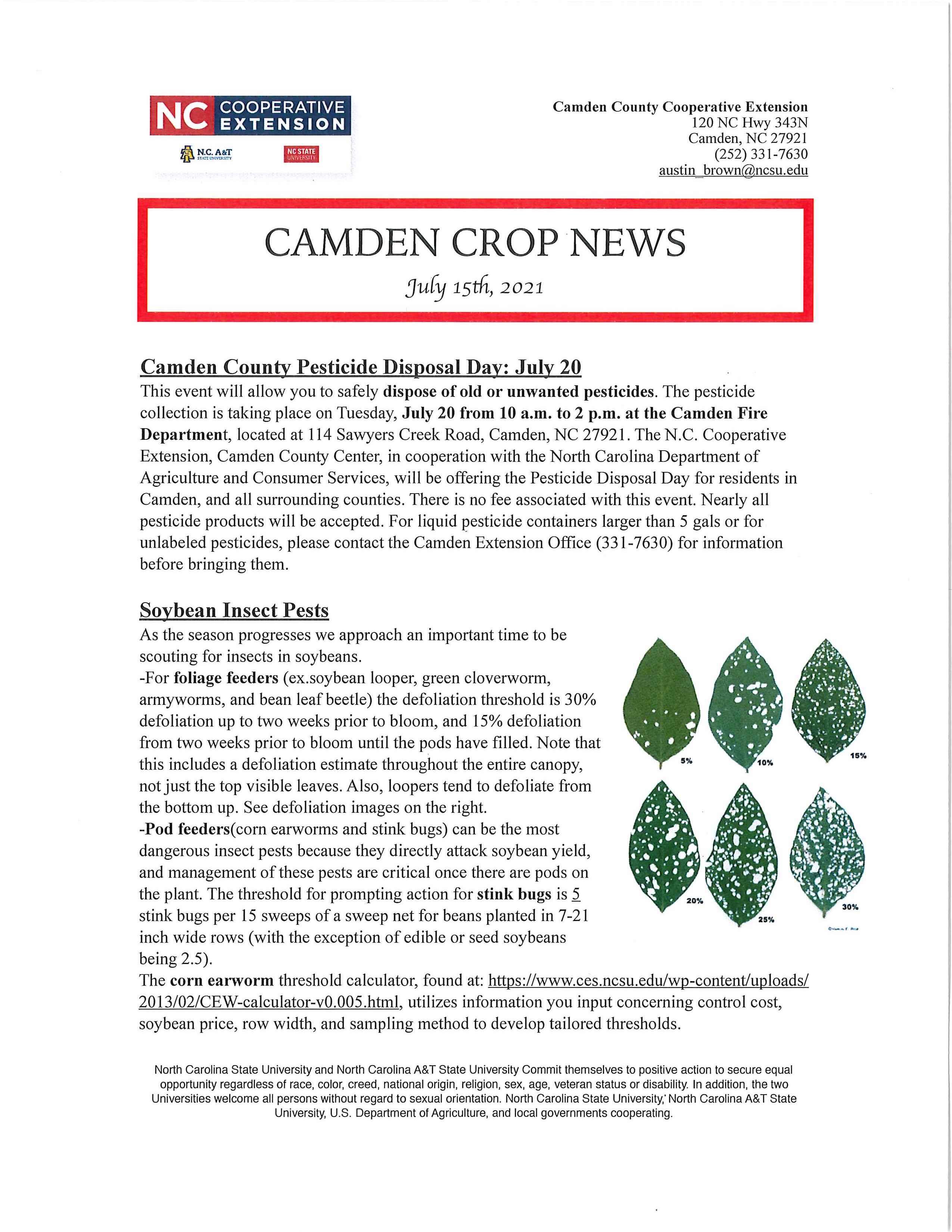 Camden Crop News